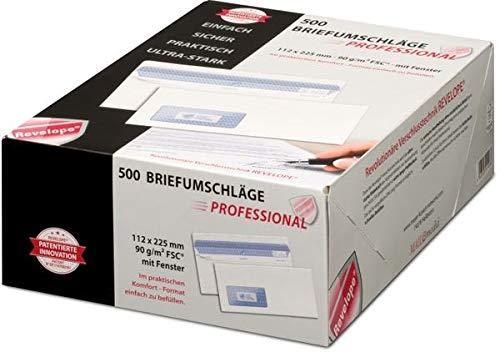 PROFESSIONAL 30051798 MAILmedia Briefumschlag REVELOPE, 112 x 225 mm, mit Fenster
