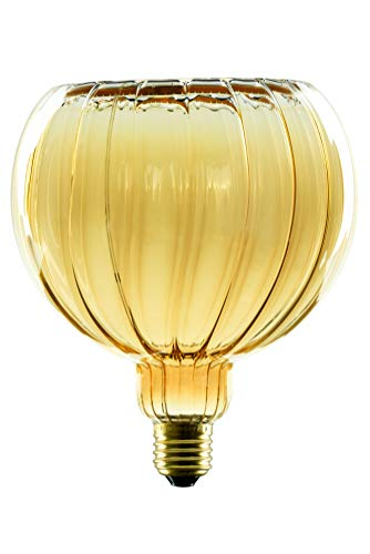 SEGULA Bombilla LED de filamento – Diseño Flotante Globe 150 mm – Cristal dorado – Regulable – E27