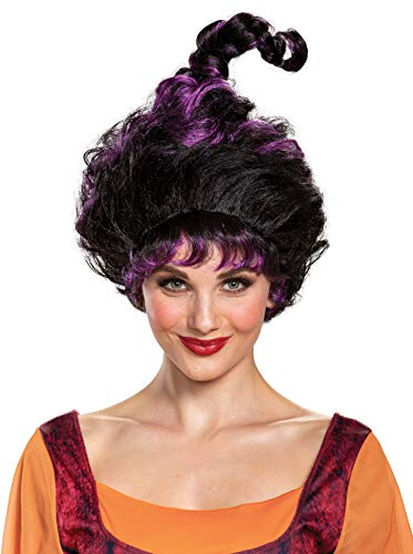 Disguise Women's Disney Hocus Pocus Mary Deluxe Wig Costume Accessory, Black, Adult Size