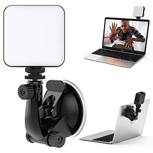 FDKOBE Video Conference Lighting Kit, Webcam Lighting for Remote Working/Zoom Calls/Zoom Lighting/Live Streaming/Self Broadcasting, for Laptop/Computer with Upgrade Suction Cup 500LUX 0.3m