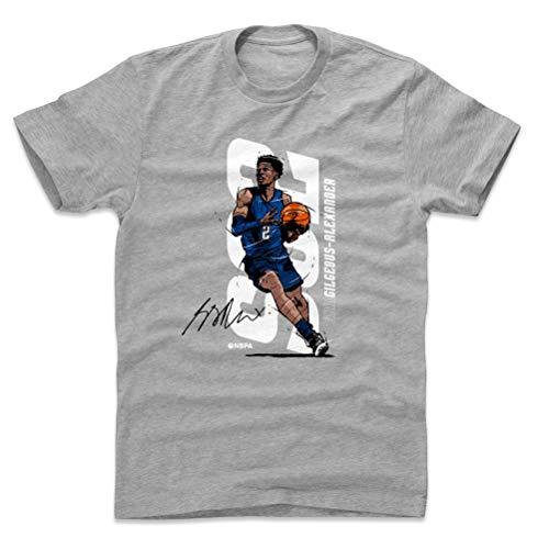 500 LEVEL Shai Gilgeous-Alexander Shirt (Cotton, Large, Heather Gray) - Oklahoma City Men