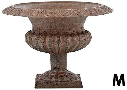 Gietijzer Bruin Laag Frans Urn Tuinvaas Romeinse Stijl 20cm
