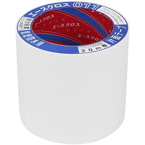 光洋化学 気密防水テープ エースクロス アクリル系強力粘着 片面テープ 011 白 100mm×20m 18巻セット