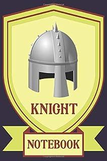 Knight Notebook - Helmet - Frame - Purple - Yellow - College Ruled