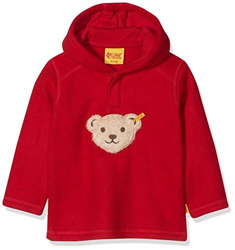 Steiff Steiff Baby-Jungen 1/1 Arm Fleece Sweatshirt, Rot (Jester red red 2120), 80
