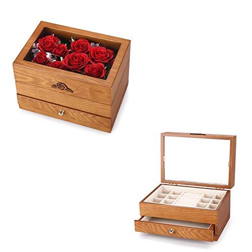 Opbergdoos Sieraden Box sieradendoos Ketting handsieraden doos Retro Multi-layer Hoge capaciteit 3 kleuren, 26 * 18 * 17cm