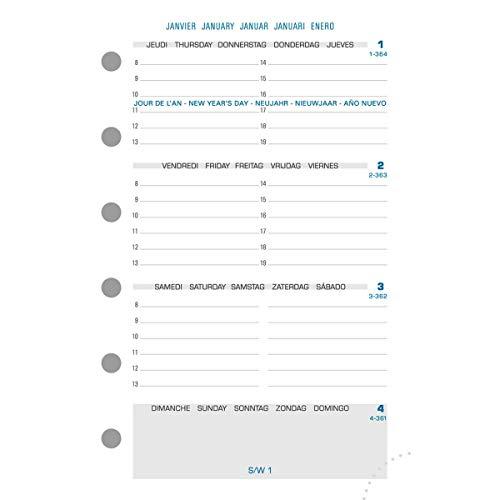 Exacompta 14212E Refill Organizer für Exatime 14 wöchentliche Jahrgang 2 Seiten pro Woche - 12,6 x 8,1 cm - 16 Monate September 2018 bis Dezember 2019