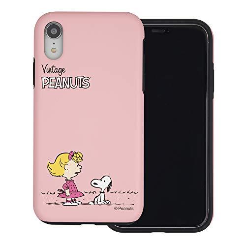 iPhone XR ケース と互換性があります Peanuts Snoopy ピーナッツ スヌーピー ダブル バンパー ケース デュアルレイヤー 【 アイフォンXR 】 (小さい スヌーピー サリー) [並行輸入品]