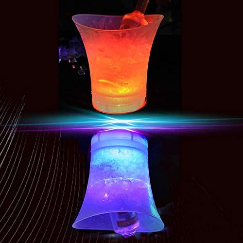 R&P 3 Piezas Cubo de Hielo, Lámpara LED Resistente al Agua, para Cubo de Hielo para Champagne, Aplicar a Bar, Club, Boda, Fiesta Familiar (Baterías no Incluidas)