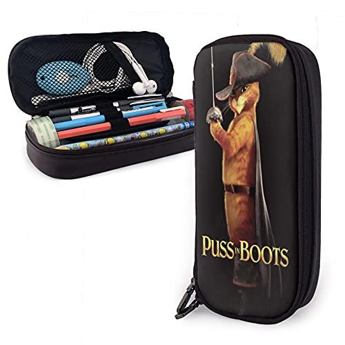 Trousse à crayons Puss in Boots Jack and Jill - Trousse à fermeture éclair - Pour le bureau ou Pâques