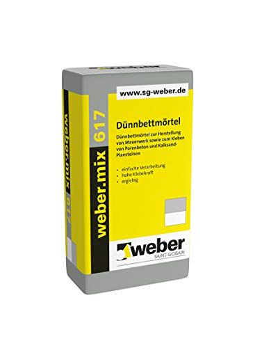 Weber.mix 617 Dünnbettmörtel Mörtel Mauermörtel