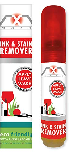 MX14 Ink and Stain Remover for Clothes, Upholstery, Sofas, Carpet & Leather | Removes Grease, Oil, Ink, etc | 1 Oz