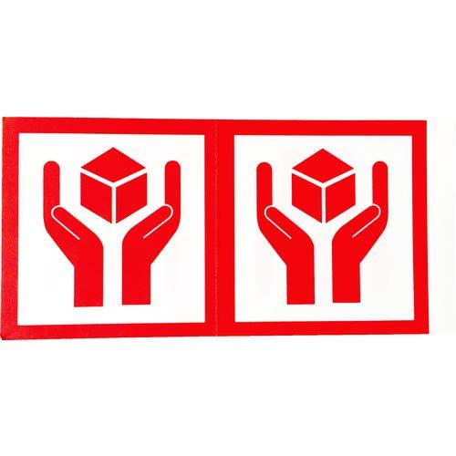 TRUSCO(トラスコ) 荷札 「取扱注意」マーク4枚1組 10組入 115X58 TNFM-04 荷札