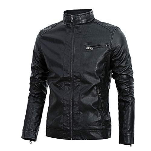 Heren motorfiets retro lederen jas mannen top motorjas racing biker coat klassieke windveilige dikke warm bruin zwart cafe