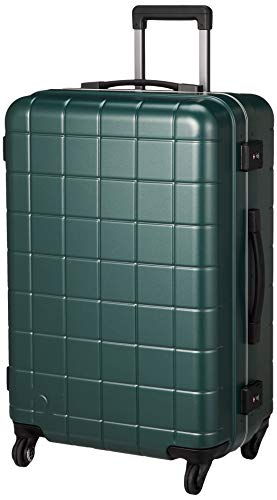 [プロテカ] スーツケース 日本製 ストッパー付 サイレントキャスター チェッカーフレーム 保証付 67L 4.4kg ミッドナイトグリーン