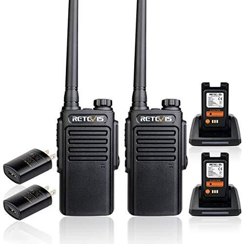 Retevis RT47 Walkie Talkies Waterproof IP67,Portable Long Range 2 Way Radio for Adults,VOX Channel Lock Vox Handsfree Outdoor Two Way Radio(2 Pack)