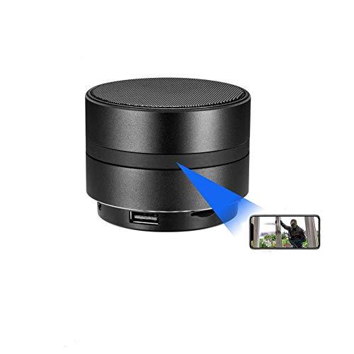 WiFi Cámara Espía Oculta HD - Altavoz Bluetooth Estéreo inalámbrico Música Detección de Movimiento en el hogar Cámara de visión Nocturna Sistema de Seguridad Video