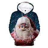 Mr.BaoLong&Miss.GO Otoño E Invierno Suéter De Navidad para Hombres Suéter De Pareja Suéter De Santa Claus Sudadera con Capucha Deportiva Suéter Casual