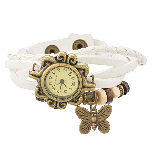 Souarts Watch Weave Wrap Artificial Leather Strap Bracelet Watch with...