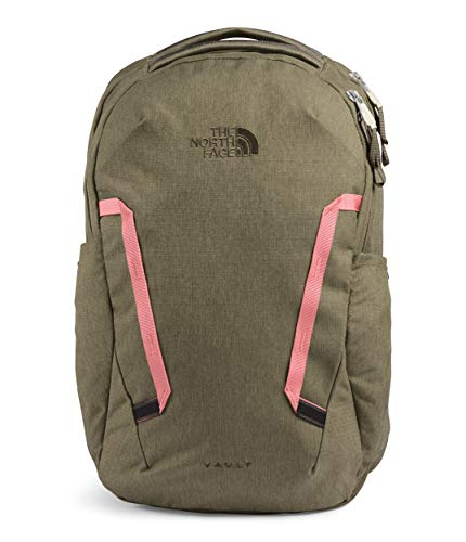 The North Face Women's Vault Backpack, Burnt Olive Green Light Heather/Mauveglow, OS