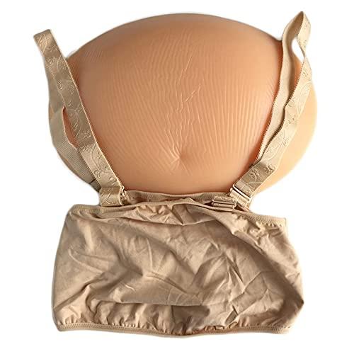 XBSXP Bump de Barriga de Embarazo Artificial, Vientre Falso de Silicona Bolsa de Embarazada Vientre para travesti Juguete de Halloween Falso Embarazada y Actor
