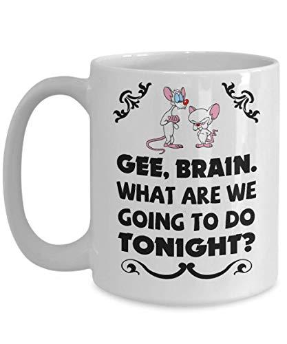 shenhaimojing Pinky Y El Cerebro Episodio Pinky At Bat Impresion Taza De Cafe De Porcelana,Divertido,Taza,Te,Regalo para Navidad,Navidad,Papa,Aniversario,Mot