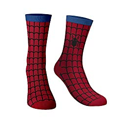 The Souled Store Boys Cotton Nylon and Spandex and Printed Spider-Man Spin The Web Socks (Multicolour, Medium)