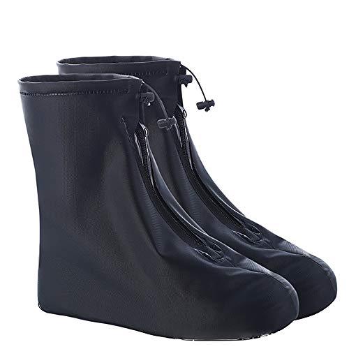 TYUE Impermeable Botas de Lluvia de la Cubierta, Reutilizable Gruesa Antideslizante Resistente al Desgaste Overshoes Plegable, Adecuado para la protección del niño para el Recorrido,XS
