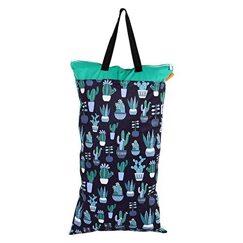 40x70 Wasserdicht Waschbar Wet Dry Bag große Kapazität Windel Windel Aufbewahrungstasche mit Griff für Badeanzug Unterwäsche(#2)