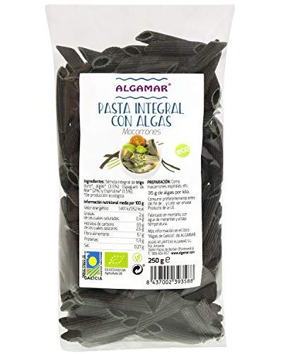 Pasta Integral con Algas Macarrones 250 GR BIO
