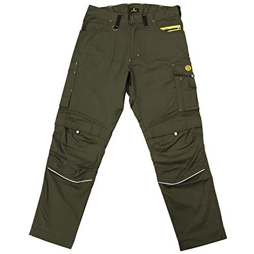 HANS SCHAEFER Workwear – Lange Arbeitshose für Herren – Modische und leichte Bundhose mit Knietaschen – Strapazierbar und qualitativ