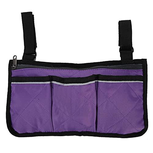 Bolsa Duradera para Silla de Ruedas Organizador de Silla de Ruedas Resistente al desgarro para Ayuda para Caminar para Scooter(Purple)