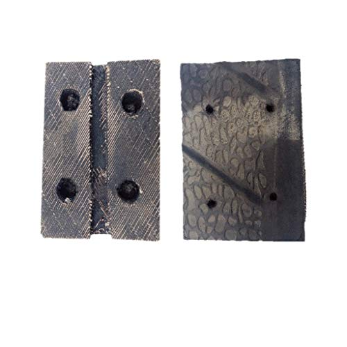 GOZAR Goma Almohadilla para Carretilla Jack Elevación Plataforma Carretilla Jack Goma Bloquear Universal Goma Bloque para Neumático Cambio Taller Protección Coche-Type D 1Pcs