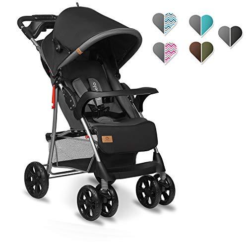 Lionelo Emma Plus Kinderwagen Kindersportwagen leicht modern klein Buggy mit Liegeposition zusammenklappbar (Stone)
