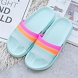 Zapatillas Casa Chanclas Sandalias Zapatillas Mujer Zapatillas De Playa Mujer Diapositivas Al Aire Libre Mujer Sandalias De Casa Baño Interior Chanclas Antideslizantes-Blue_9
