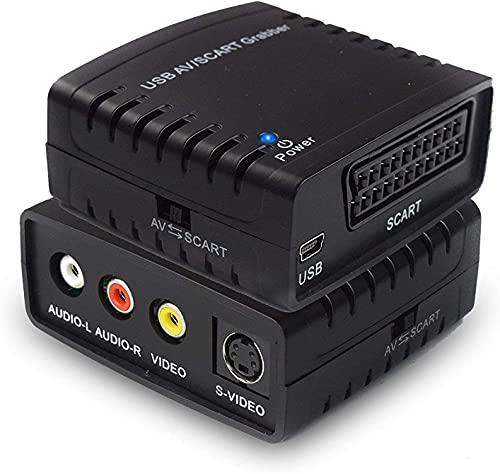 DIGITNOW! Convertidor de Captura de vídeo USB, Scart o VHS a DVD Digital Grabber Grabador, Capturadora Digitalizadora de vídeo