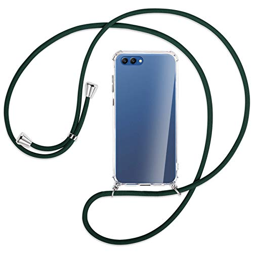 mtb more energy Collar Smartphone para Honor View 10, Honor V10 (5.99'') - Verde Oscuro - Funda Protectora ponible - Carcasa Anti Shock con Cuerda Correa