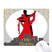 ダンサーのデュエットダンス社交ダンス クリスマスイブのゴムマウスパッド