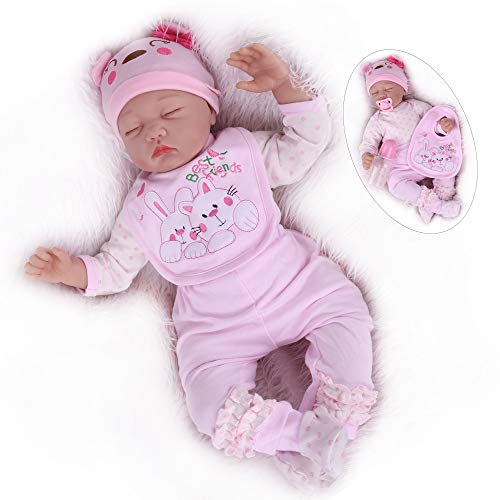 Kaydora Reborn Baby Dolls Girl, 22 Inch Sleeping Newborn Baby Doll, Realistic Baby Reborn Toddler