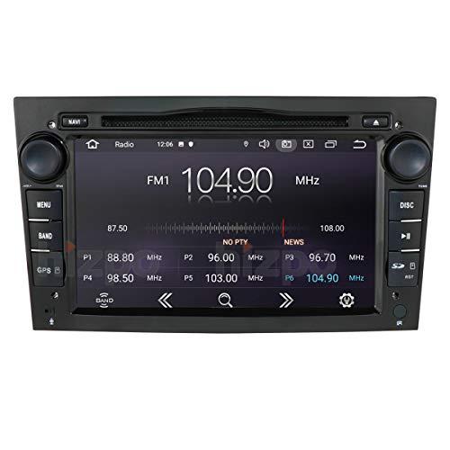 Navigatore GPS stereo automatico Android 10 7 pollici 2 Din compatibile con Opel Vauxhall Holden Antara Astra H Corsa C / D Zafira Tigra TwinTop 1 GB RAM 16 GB ROM Bluetooth 4.0 USB Mirrorlink Nero