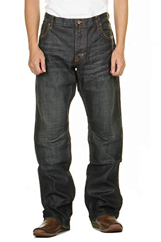 【PRPS JEANS ピーアールピーエス LONG POINT JEAN BARRACUDA バラクーダ ジーンズ ルーズフィット ストレ...