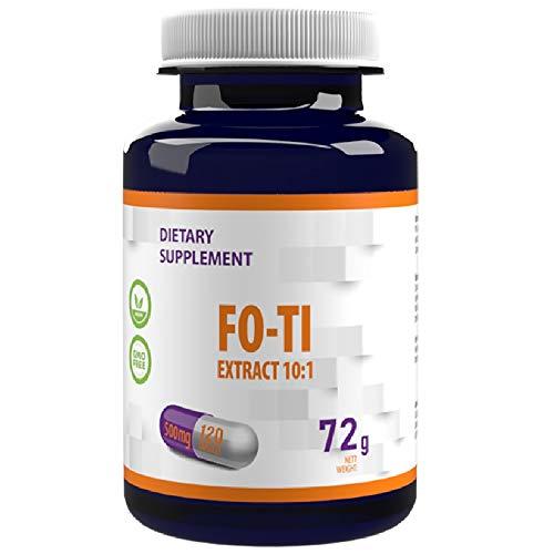 Fo-Ti (He Shou Wu) Extract 10:1 (5000mg Equivalent) 120 Vegan Capsules