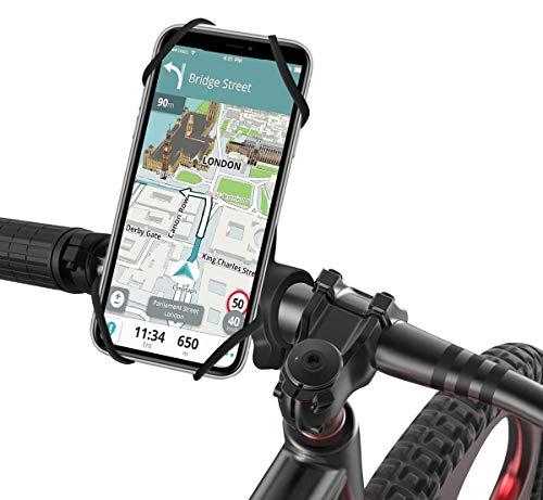 """SAWAKE Handyhalterung Fahrrad, 360 Grad drehbarer Abnehmbarer Motorrad Handyhalterung, Anti-Shake Fahrradhalterung Kompatibel für 4,0""""bis 6,8"""" Smartphones"""