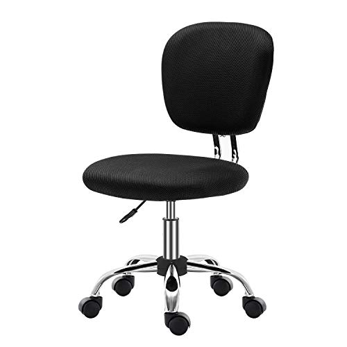 SEATZONE Mid Back Office Desk Chairs for Conference Room with Wheels Mesh Task Chairs Without Arms