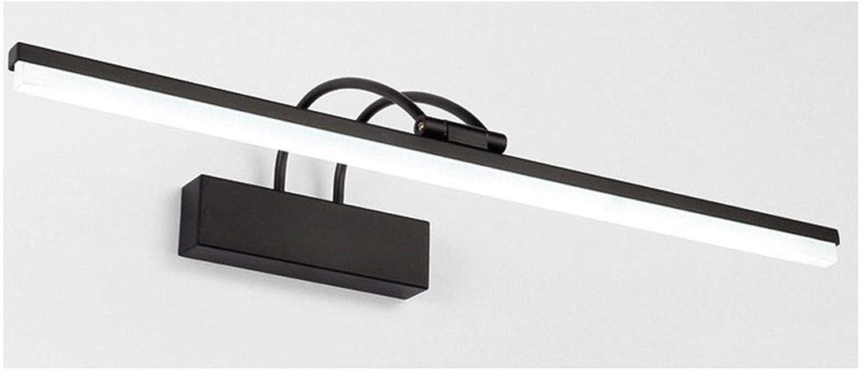 T-TWJQ Spiegelfrontlicht führte Badezimmerschwarzfernspiegelkabinettlichthotelspiegelbeleuchtung, schwarzes weies Licht, 41cm9W