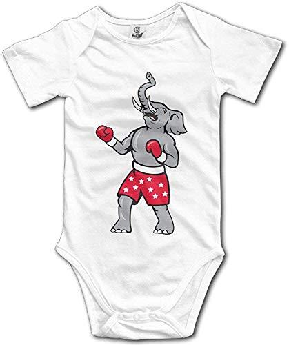 ngmaoyouxis Dieren olifant boksgordel baby kinderen unisex baby onesie schatten gedrukt korte mouwen eendelige body