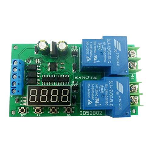 PTMD 12V 30A Multifunción DC/AC Motor controlador de relé de la placa de control de marcha atrás hacia adelante