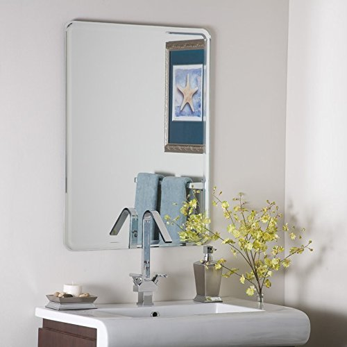 SDG Frameless Mirror   Mirror for Wall   Mirror for Bathrooms   Mirror for Home   Mirror Decor   Mirror Size : 18 inch x 24 inch.