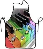N\A Tablier de Cuisine personnalisé, Tabliers personnalisés pour Femmes et Hommes Cuisine drôle, Cuisson au Four, Jardin, Camping en Pianos de Musique