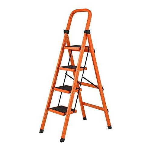 noyydh Folding Engineering Ladder 4 Step Ispessimento Pedale Telescopico Belt Bracciolo Flower Rack Stendino 55.9x20.5in